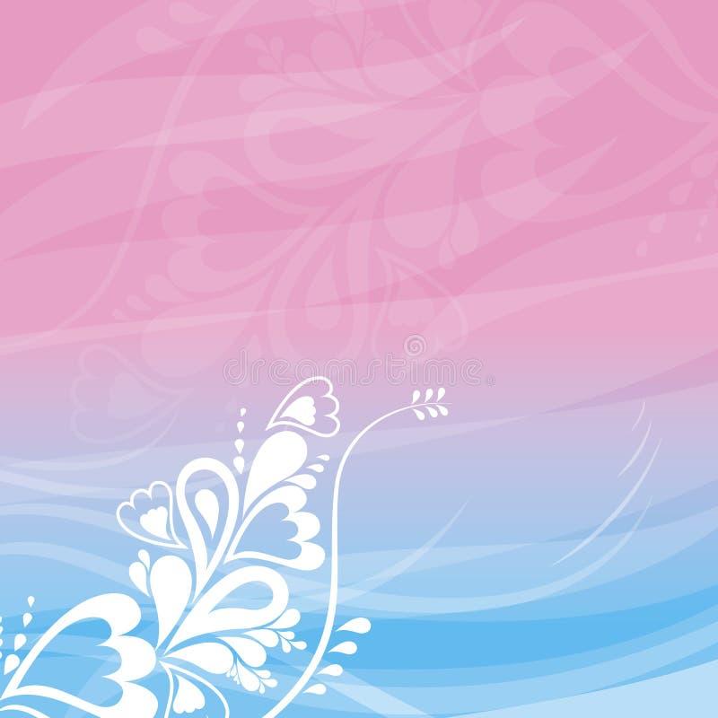 Roze bloemenachtergrond, vecto stock illustratie
