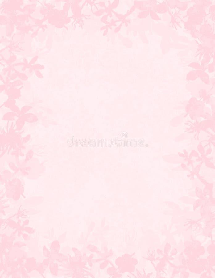 Roze bloemengrungegrens royalty-vrije illustratie