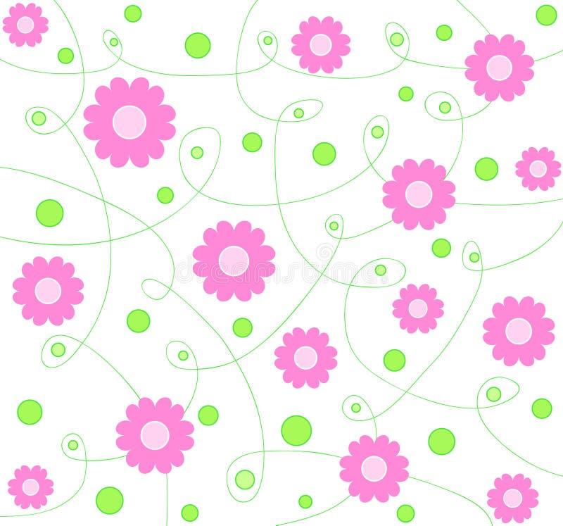 Roze bloemenontwerp vector illustratie