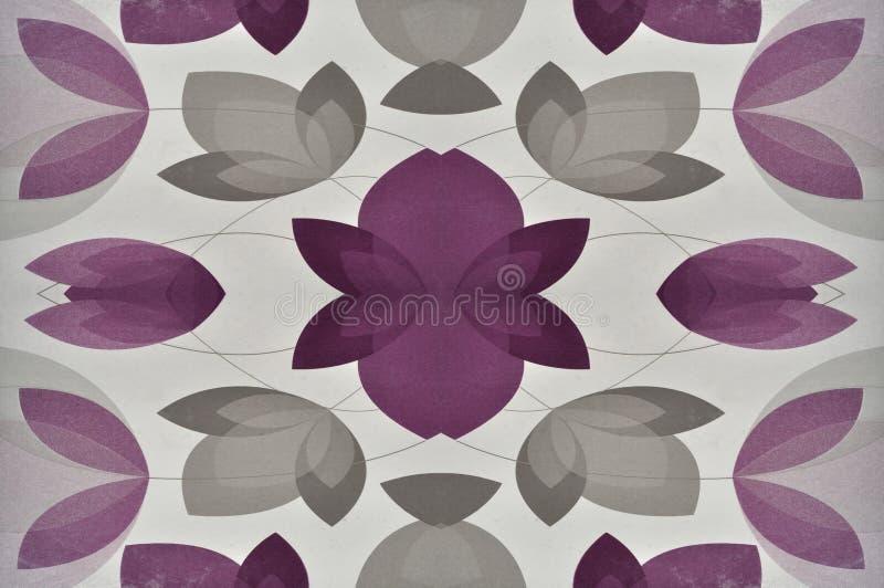 Roze bloemenspel houten blad vector illustratie