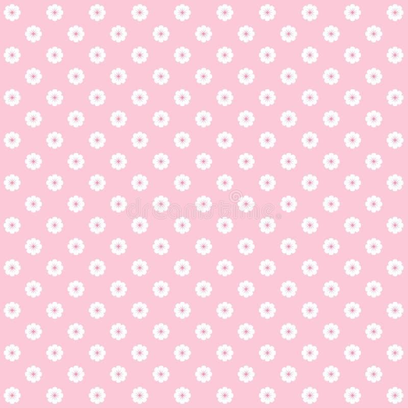 Roze bloempatroon royalty-vrije illustratie