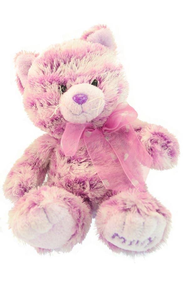 Roze bontkatje stock foto