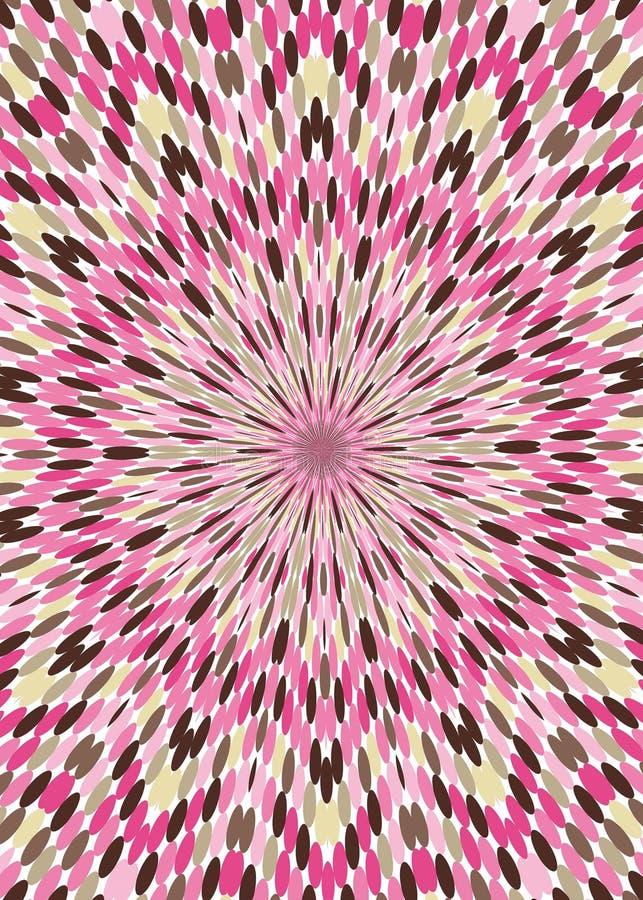 Roze Bruine het behangachtergrond van de Caleidoscoop vector illustratie