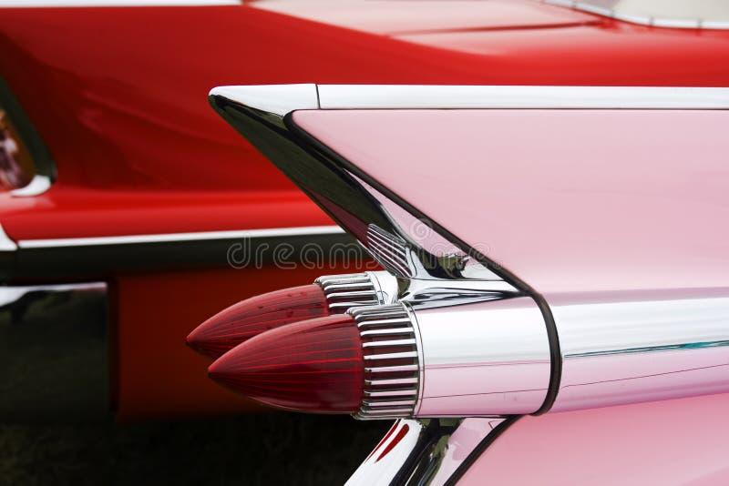 Roze cadillac royalty-vrije stock foto