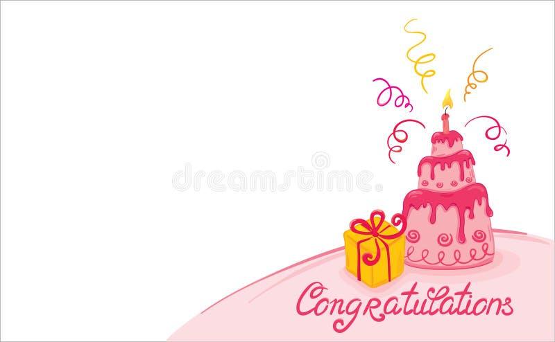 Roze cake stock illustratie