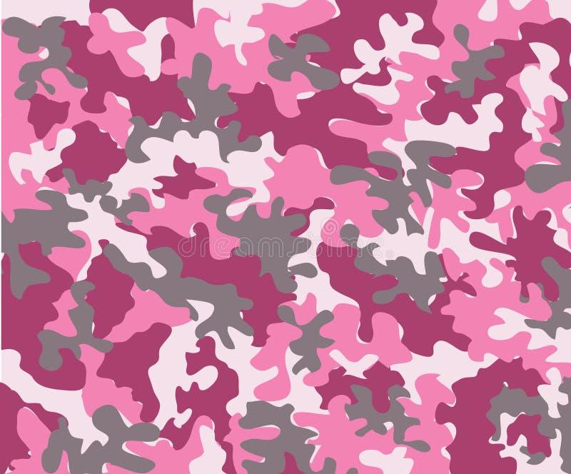 roze camouflage royalty-vrije illustratie