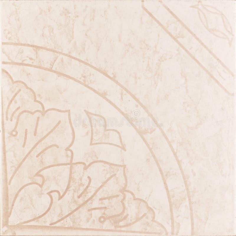 Roze ceramiektegel stock foto