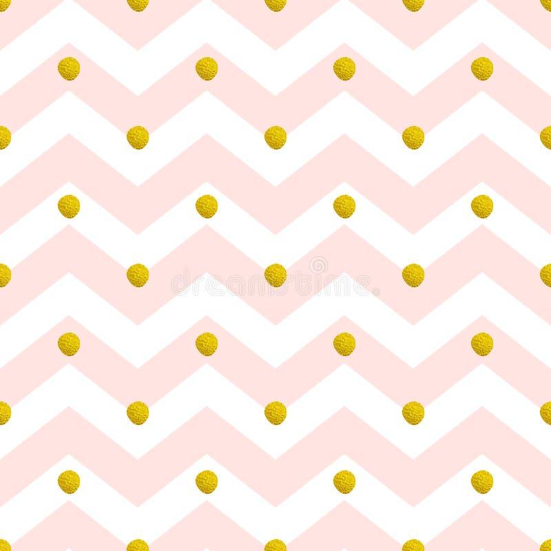 Roze chevron naadloos patroon stock illustratie