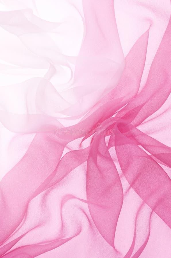 Roze chiffon stock fotografie