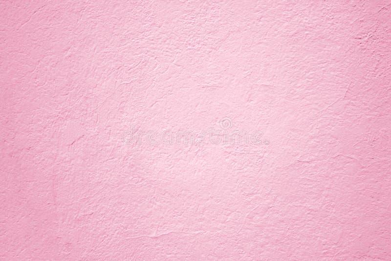 Roze concrete muur, het pleisterachtergrond van de oppervlaktetextuur voor desig royalty-vrije stock afbeelding