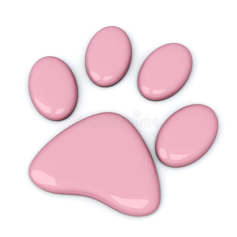 Roze 3d poot, stock illustratie