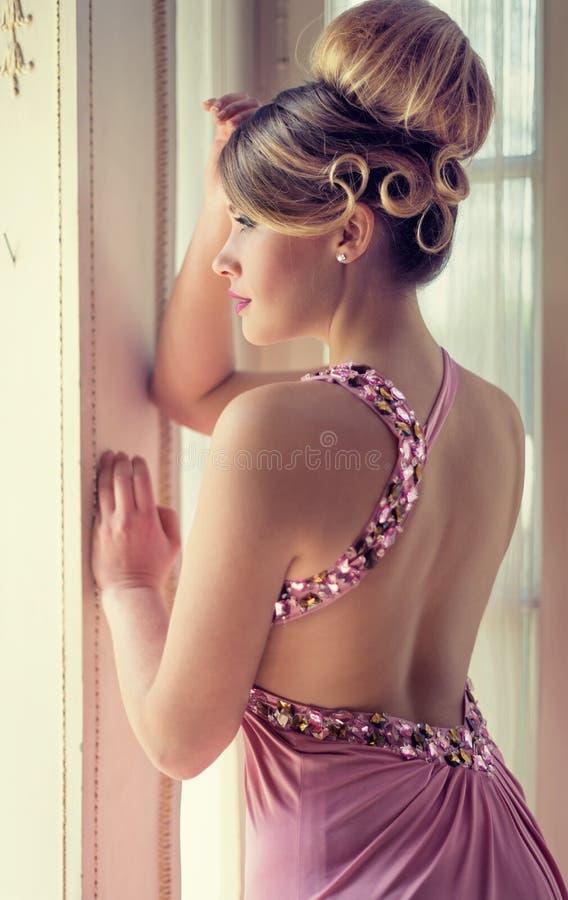 Roze dame stock foto's