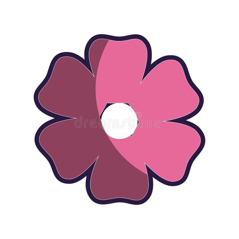 Roze de bloempictogram van het silhouetcijfer bloemen stock illustratie
