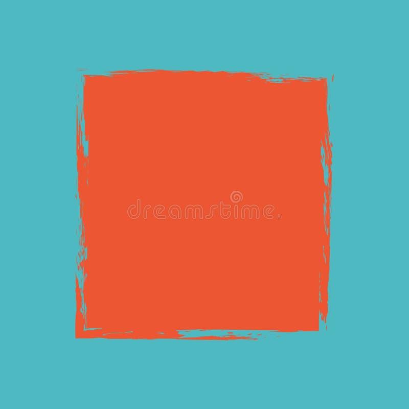 Roze de munt creatieve kaart van de hand darwn pastelkleur vector illustratie