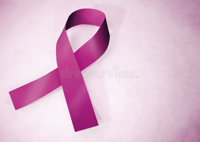 Roze de voorlichtingslint van borstkanker stock afbeeldingen