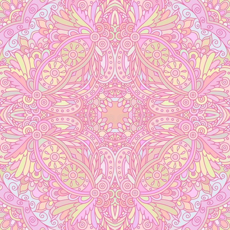 Roze decoratief naadloos patroon vector illustratie