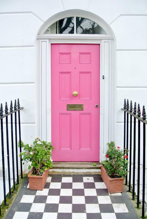 Roze deur stock foto