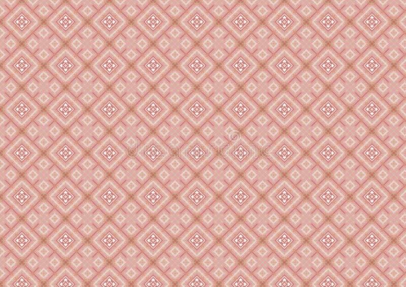 Roze Diamantvormig Patroon stock illustratie