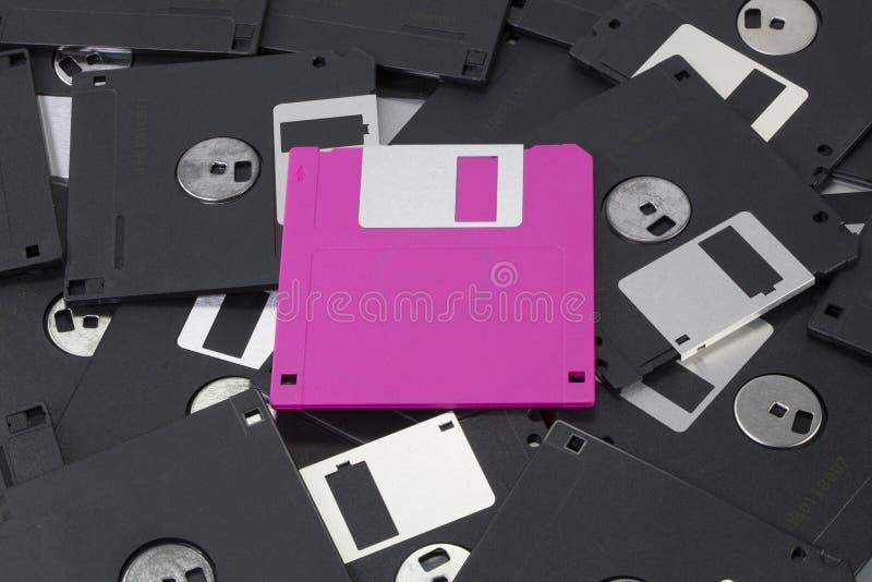 Roze diskette royalty-vrije stock foto's