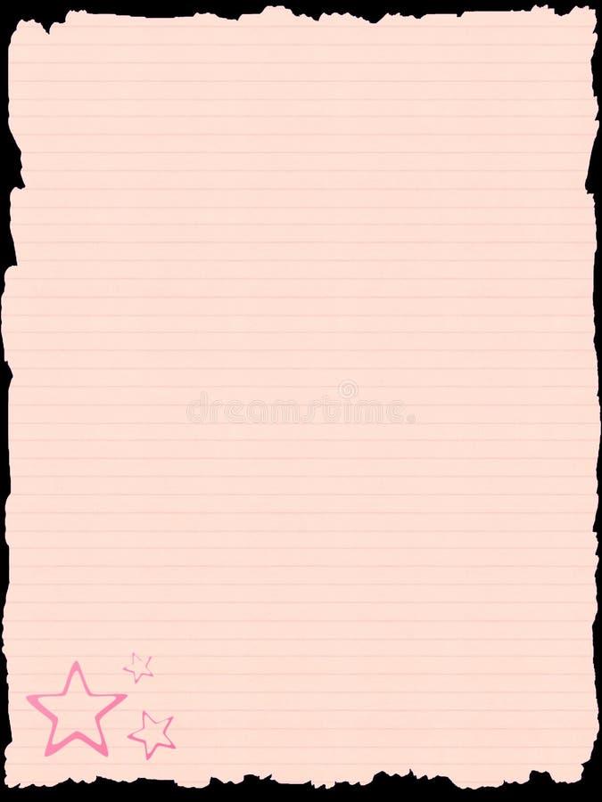 Roze document malplaatje vector illustratie