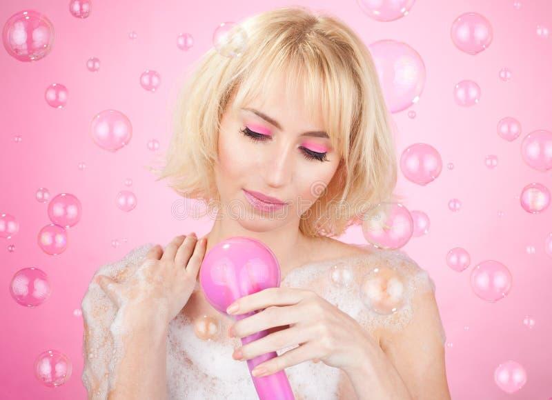 Roze douche royalty-vrije stock afbeelding
