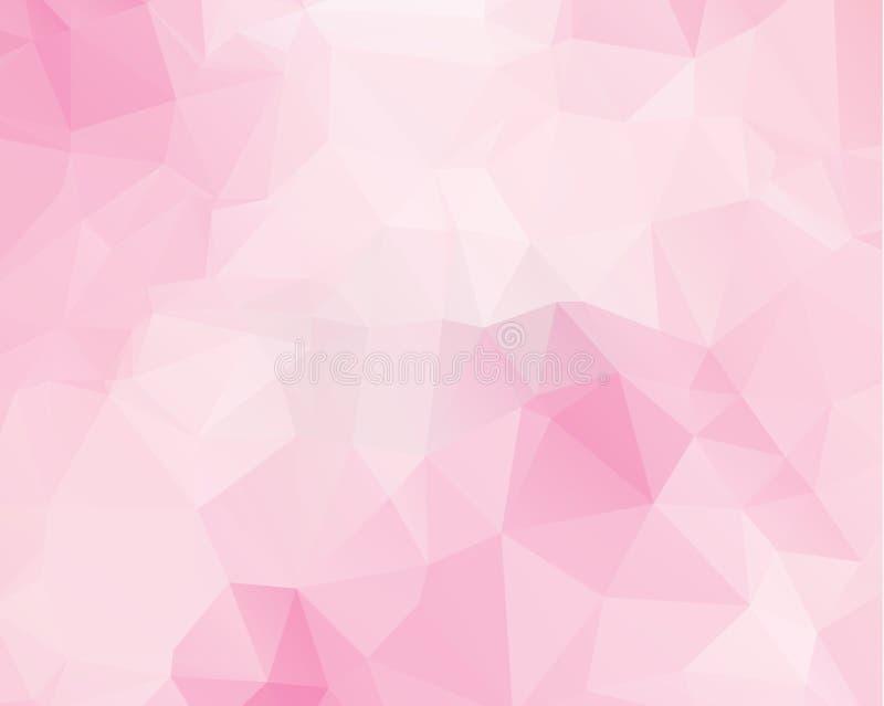 Roze driehoeksontwerp als achtergrond Geometrische achtergrond in Origami stock illustratie