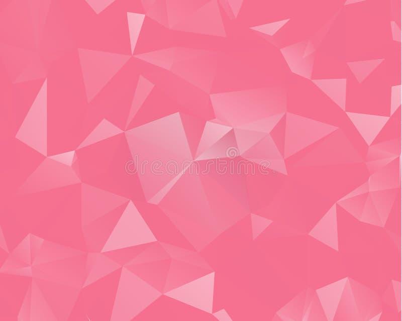 Roze driehoeksontwerp als achtergrond Geometrische achtergrond in Origami royalty-vrije illustratie