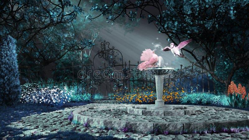 Roze duif op de fontein royalty-vrije stock afbeeldingen