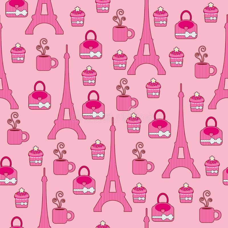 Roze elegant helder behang royalty-vrije illustratie