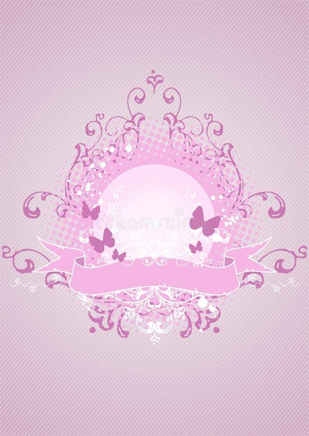 Roze embleem, ontwerpelement royalty-vrije illustratie