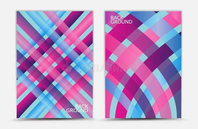Roze en blauwe abstracte vector als achtergrond, dekkingsmalplaatje, bedrijfsvlieger, Webtextuur, grafische ontwerpelementen stock illustratie