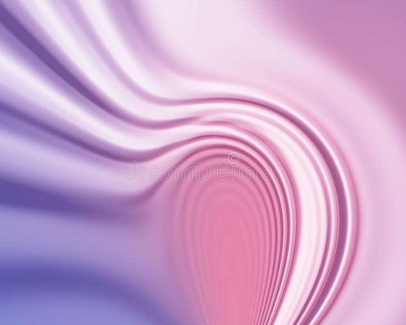 Roze en blauwe golvende abstracte zijdeachtige achtergrond royalty-vrije illustratie