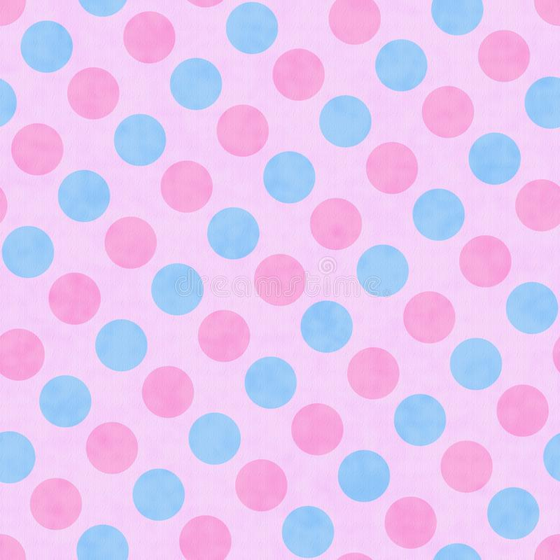 Roze en Blauwe Polka Dot Fabric Background royalty-vrije stock fotografie