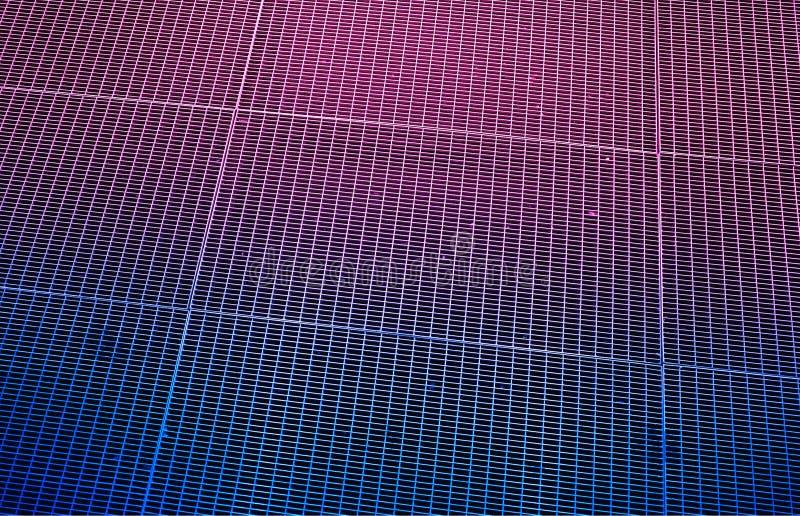 Roze en blauwe retro de textuurachtergrond van arcadelijnen hd stock afbeeldingen