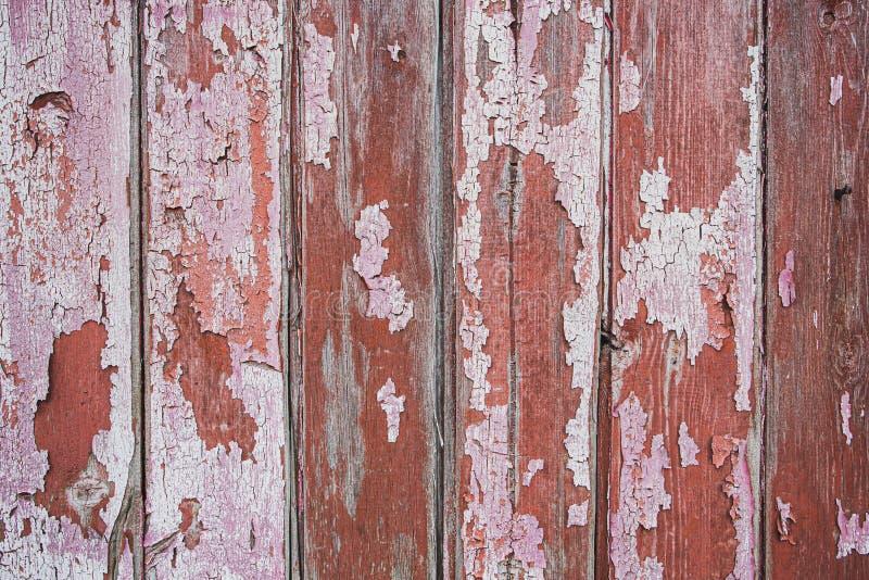 Roze en bruine echte Houten Textuurachtergrond Uitstekend en Oud royalty-vrije stock afbeeldingen