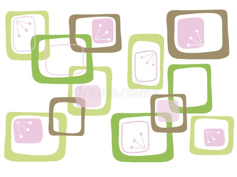 Roze en bruine suikergoedvierkanten vector illustratie