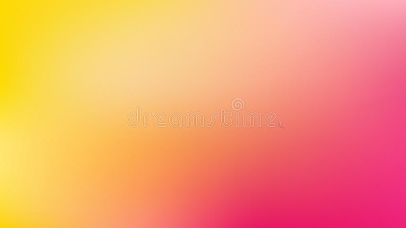 Roze en gele Gaussian Blur Background Vector Art vector illustratie