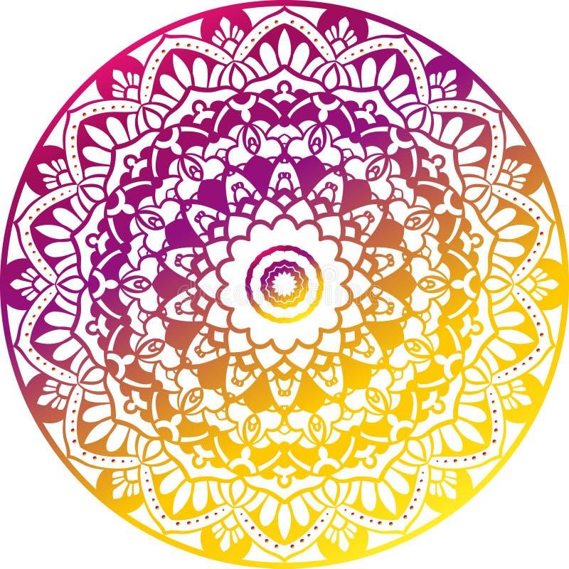 Roze en Gele Mandala stock fotografie
