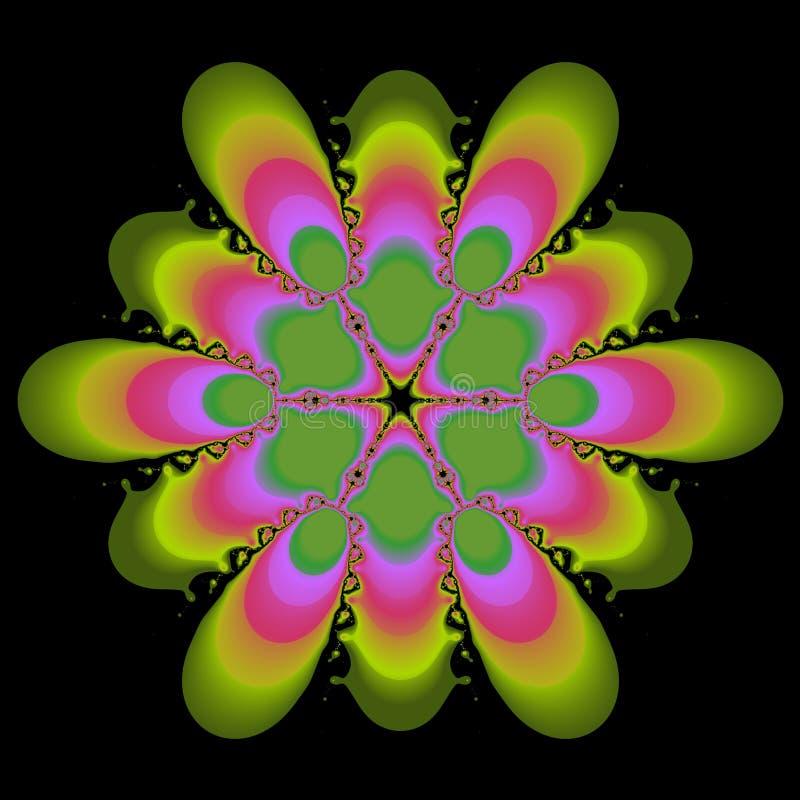 Roze en Groen Abstract Ontwerp vector illustratie