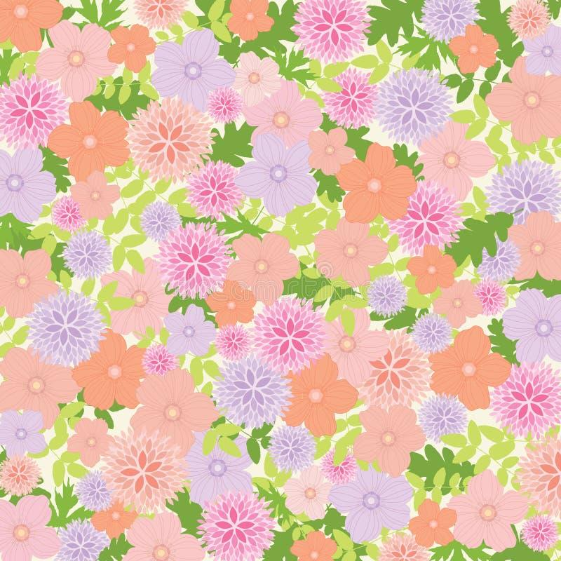 Roze en Lilac Bloemenachtergrond - vectoreps10-illustratie vector illustratie