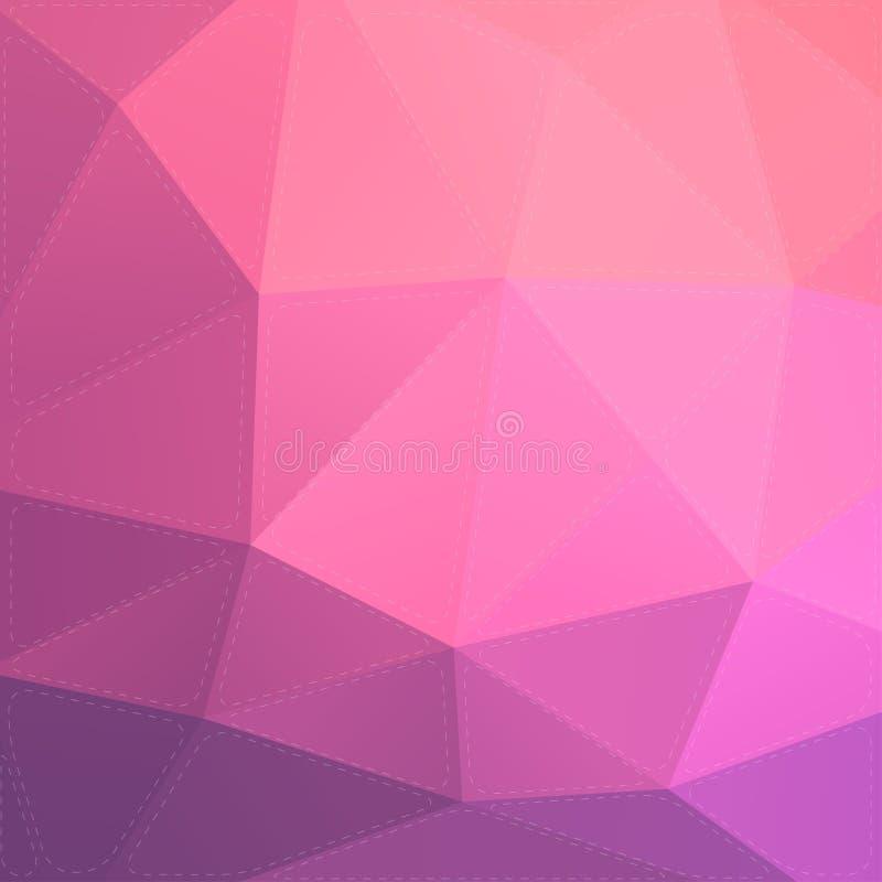 Roze en purpere abstracte achtergrond vector illustratie