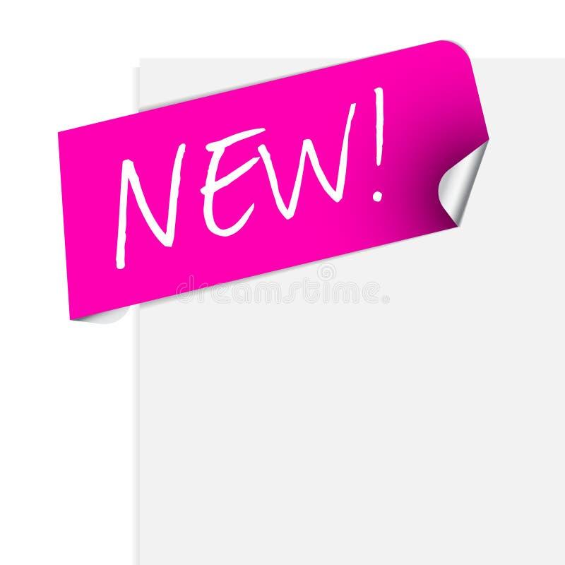 Roze etiket voor één of ander nieuw product royalty-vrije illustratie
