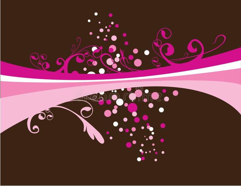 Roze explosie vector illustratie