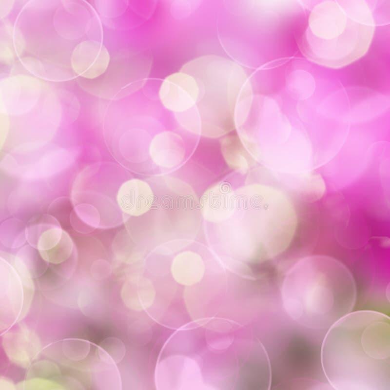 Roze Feestelijke achtergrond met lichten stock afbeelding