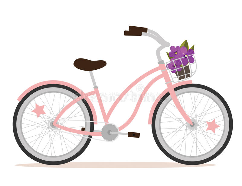 Roze fiets royalty-vrije illustratie