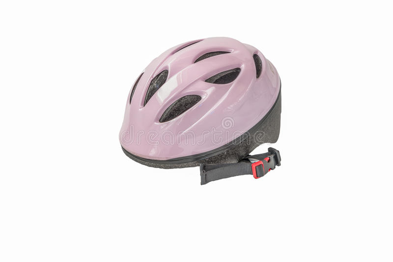 Roze fietshelm royalty-vrije stock fotografie