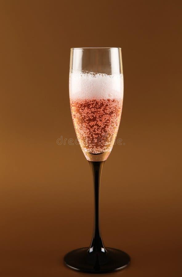 Roze fizz van Champagne viering royalty-vrije stock afbeeldingen