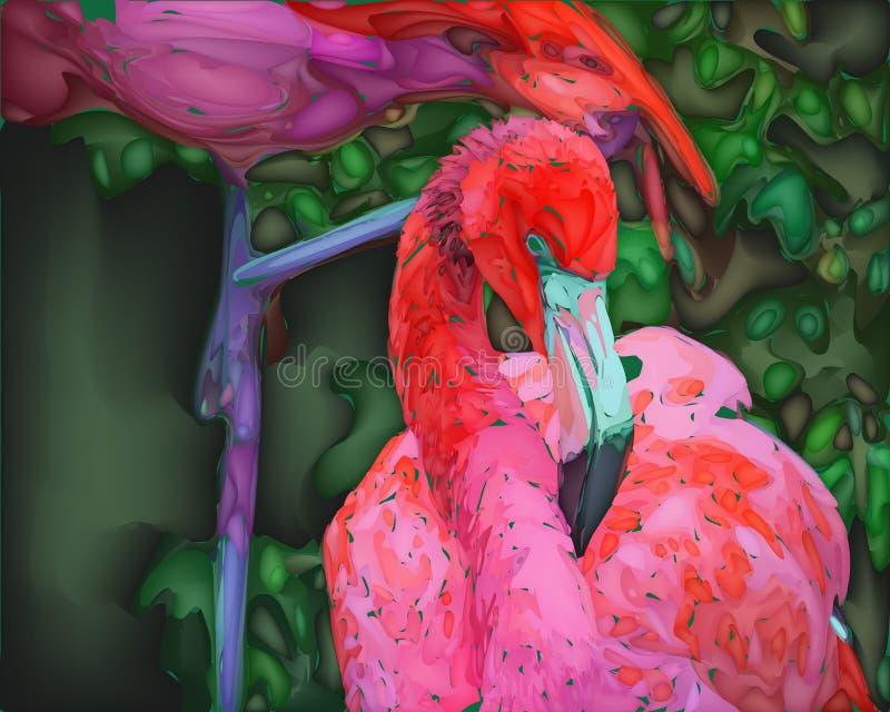 Roze Flamingo stock illustratie