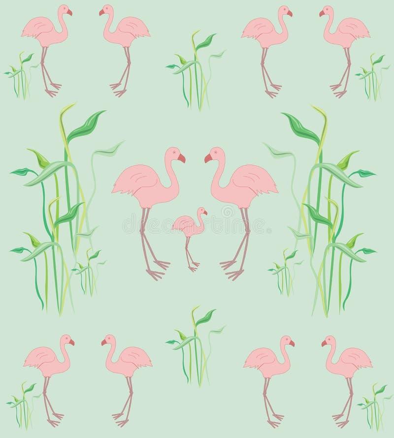 Roze flamingopatroon royalty-vrije stock afbeelding