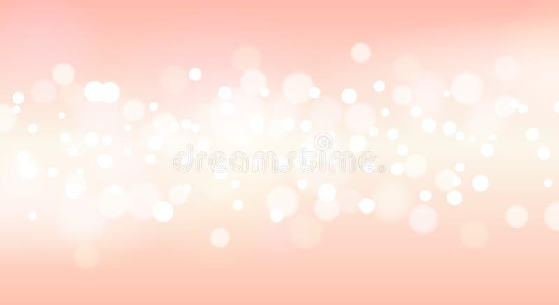 Roze fonkelende vage achtergrond royalty-vrije illustratie